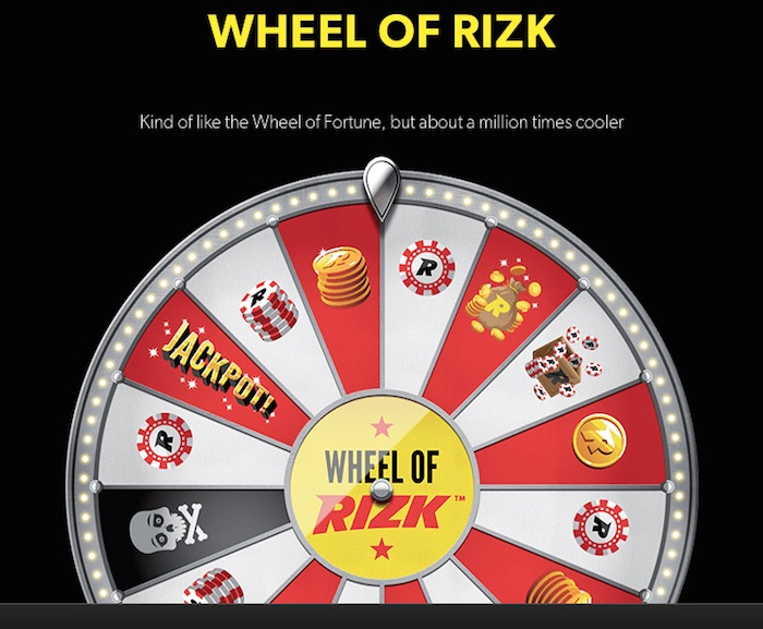 Rizk.com offers real money players the unique Wheel of Rizk