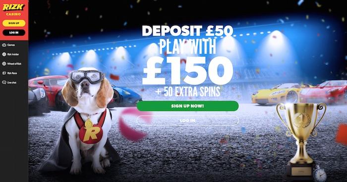 Homepage Screenshot of Rizk Casino