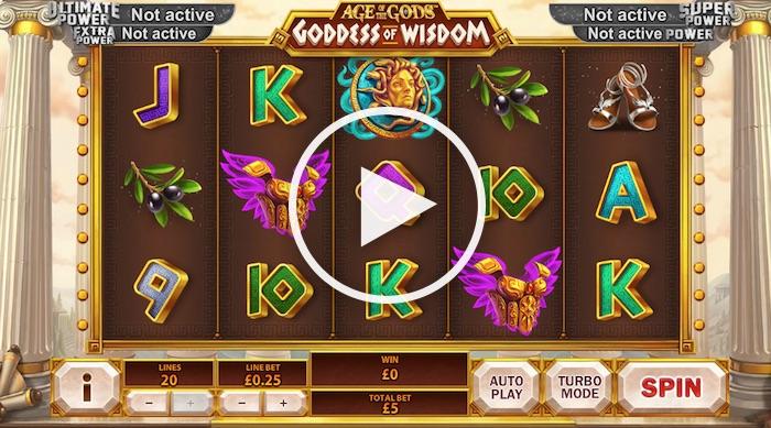 Screenshot of Playtech Goddess of Wisdom