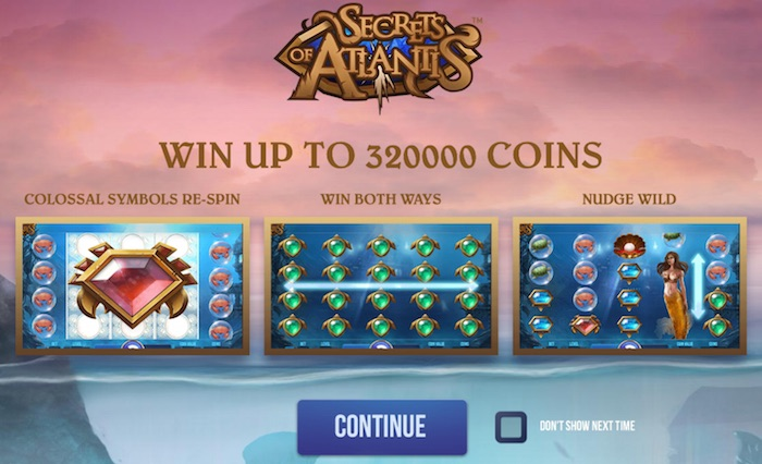 Bonus Features in Secrets of Atlantis Casino Game