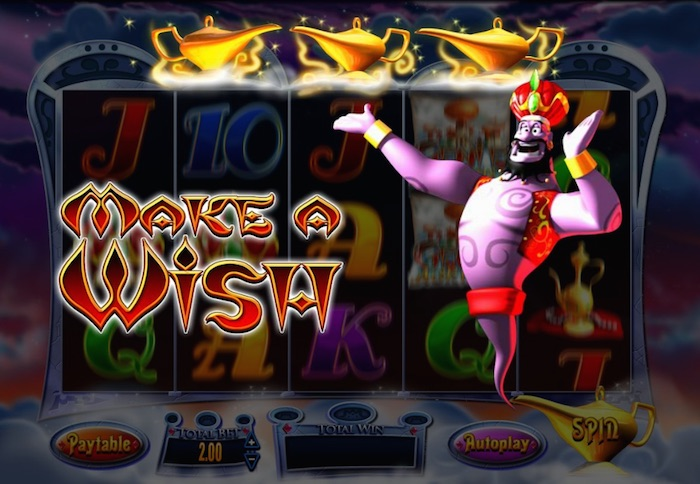 Genie Jackpots 3 Wishes Bonus Feature