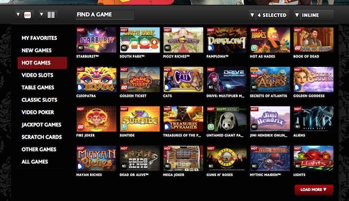 Casino Software used at Dragonaraonline.com
