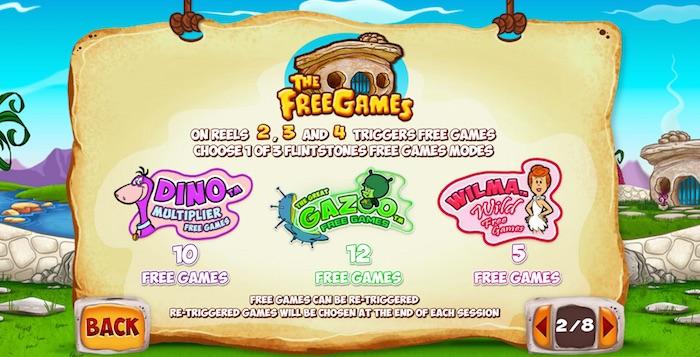 Bonus free games for Playtechs The Flintstones
