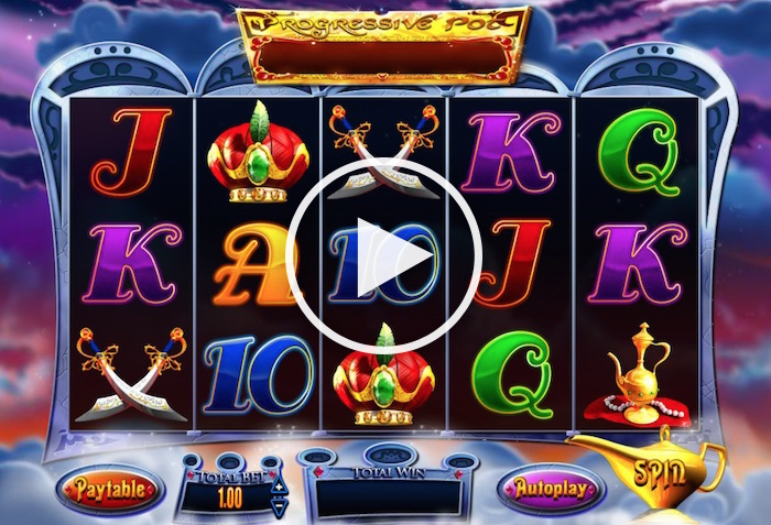 Screenshot of Genie Jackpots Progressive Slot