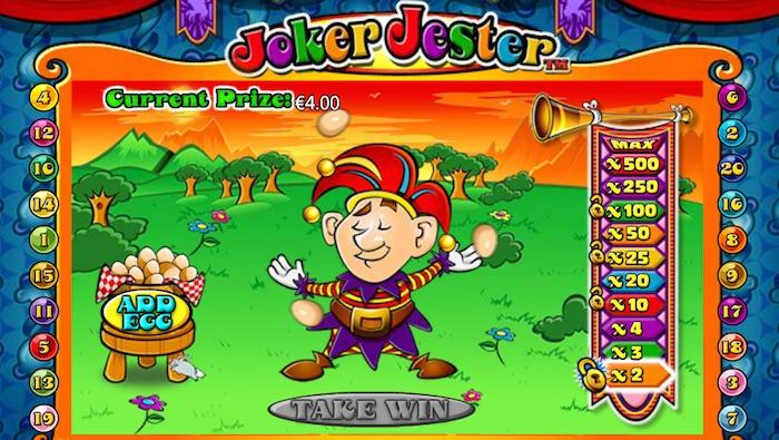 Joker Jester Egg Basket Juggle Bonus