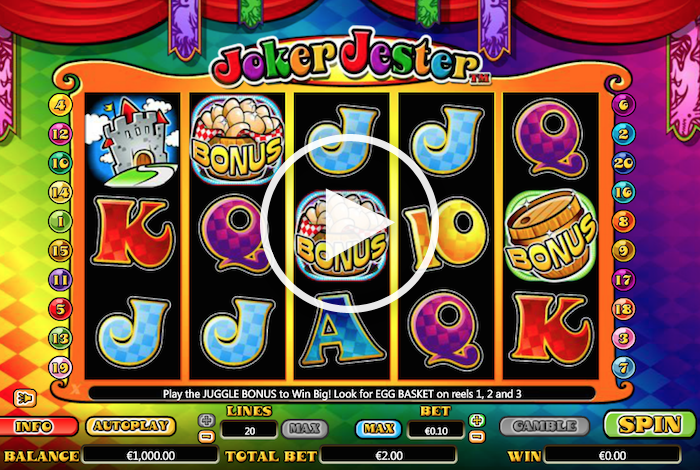 Screenshot of Joker Jester Online Slot