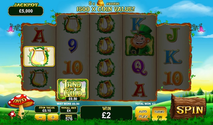Playtech Graphics in Irish Slot Land of Gold