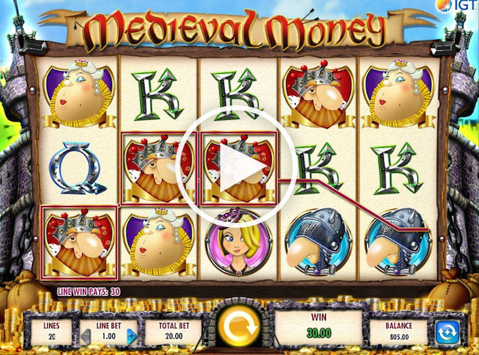 Screenshot of Medieval Money Online Slot