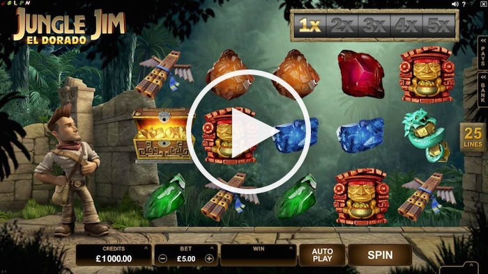 Microgaming Jungle Jim El Dorado Slot Review Screenshot