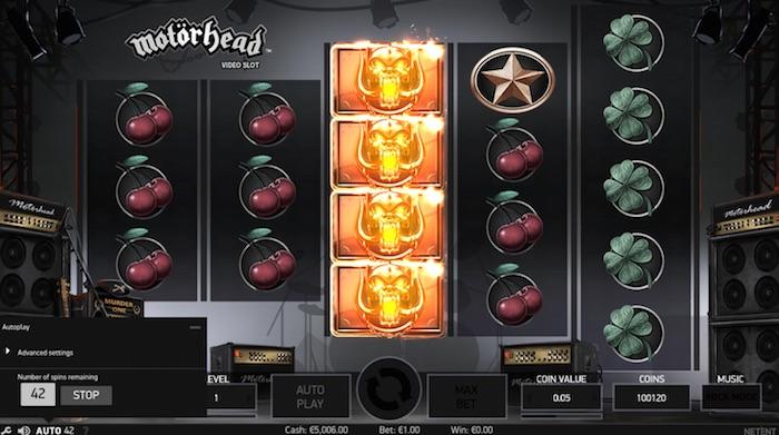 Motorhead Online Slot Graphics