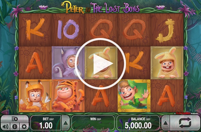 Screenshot of Peter and the Lost Boys Online Slot