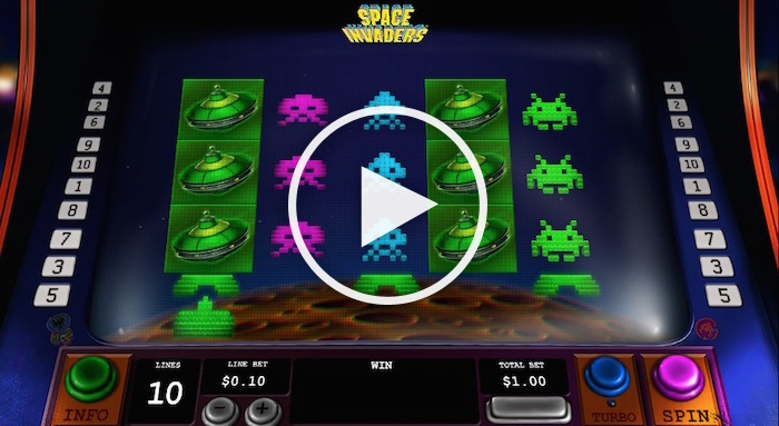 Screenshot of Space Invaders Online Slot