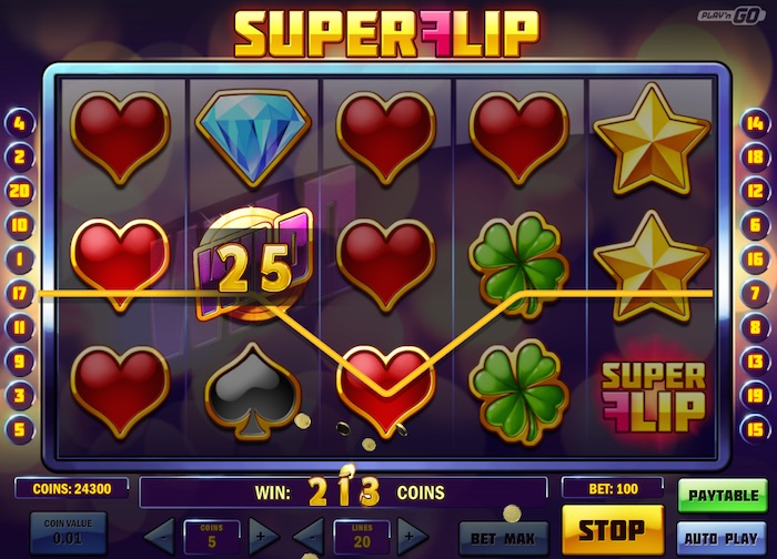 Graphics for Super Flip Slot Game