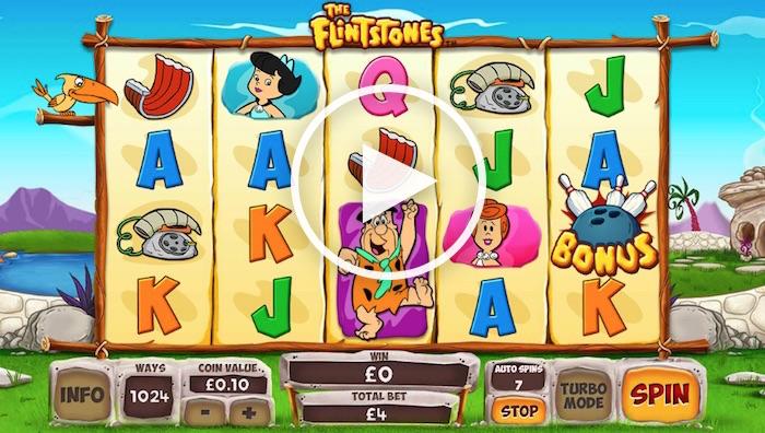 Gameplay screenshot Playtech The Flintstones