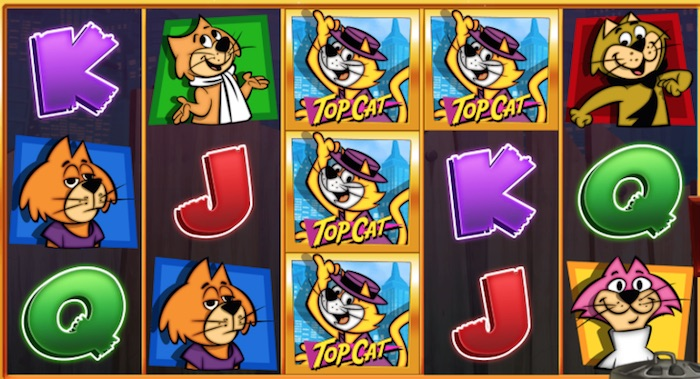 Graphics Capture of Top Cat Real Money Play
