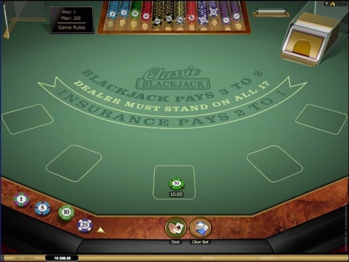 Screenshot of Online Blackjack at Spinsvilla