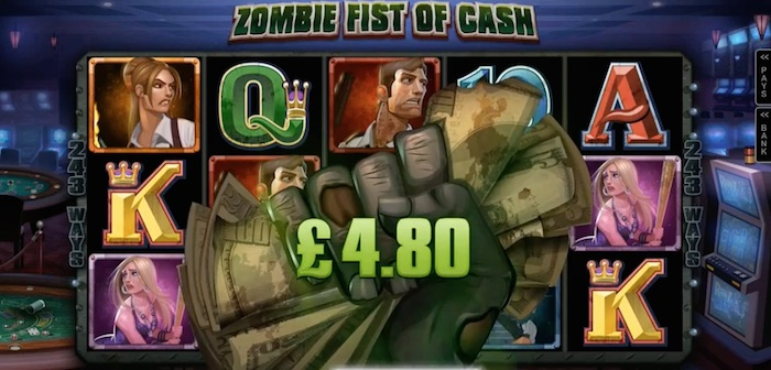 Zombie Fist Of Cash Bonus Lost Vegas Slot