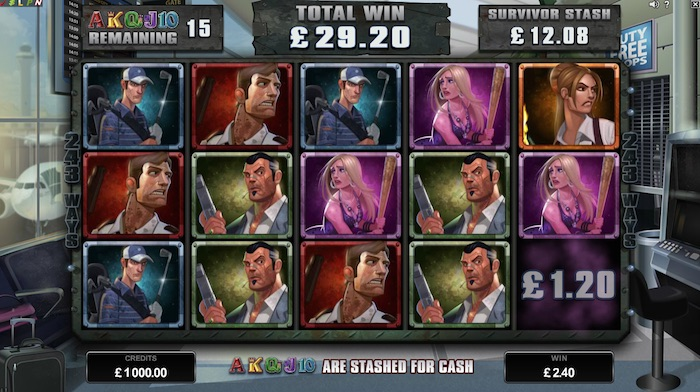 Survivor Mode Graphics for Lost Vegas Online Slot
