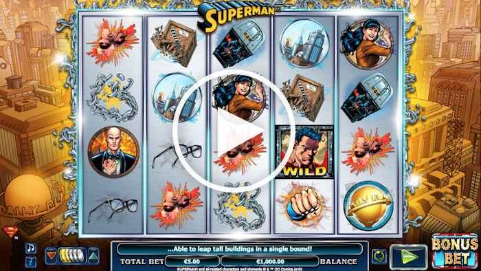 NextGen Gaming Superman Online Slot Screenshot