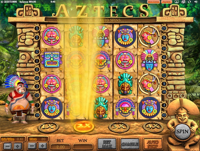 Aztecs Slot Random Multiplier Bonus