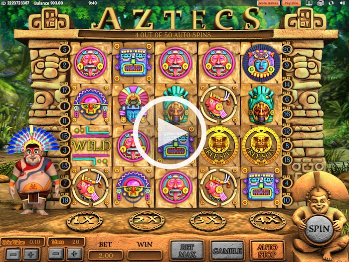 Aztecs Online Slot Free Play Screenshot