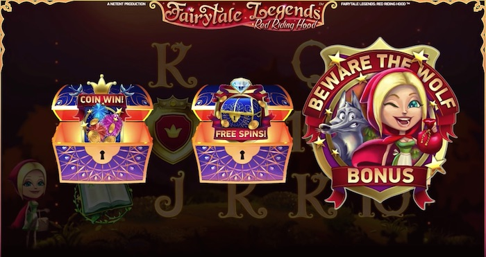 You can win Free Spins playing NetEnt Red Riding Hood Online Slot