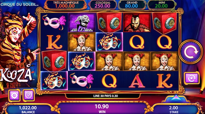 Kooza Slot Pick a Box Bonus Feature