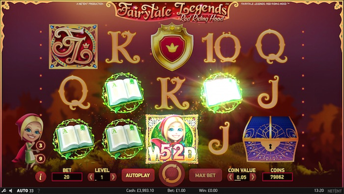 NetEnt Red Riding Hood Slot Graphics Screenshot