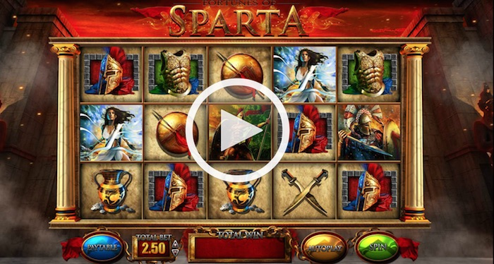 Screenshot of Fortunes of Sparta Online Slot