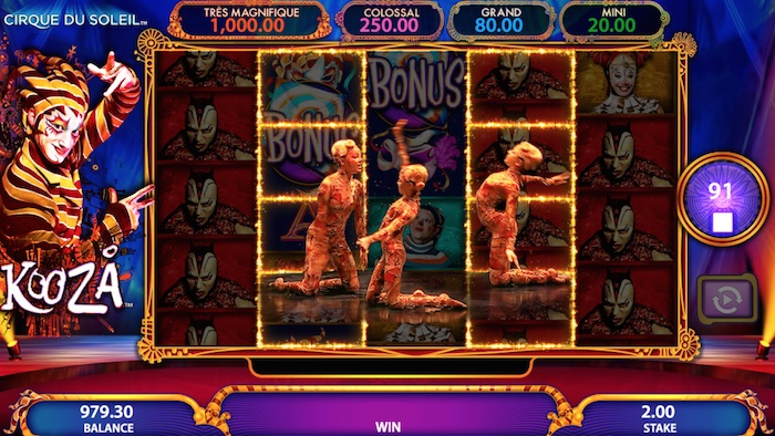 Free Play Cirque Du Soleil Slot Graphics