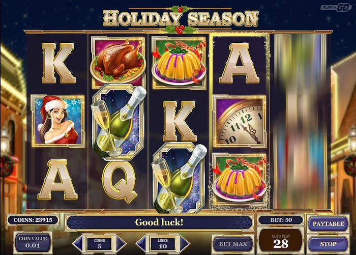 Holiday Season Slot Graphics Screenshot