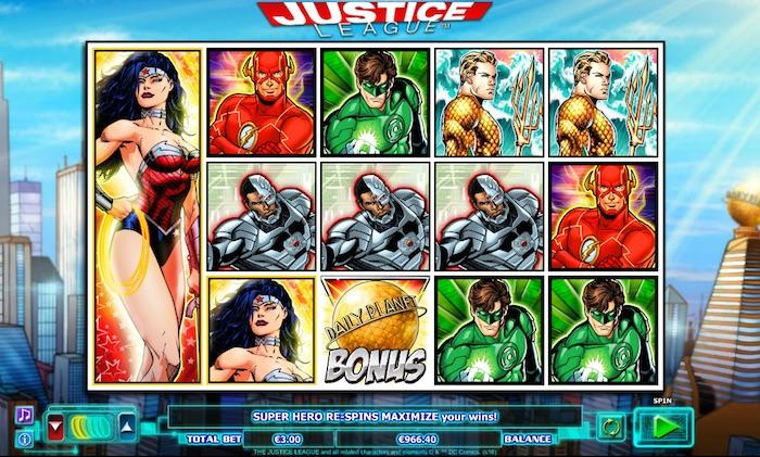 Justice League Online Slot Graphics