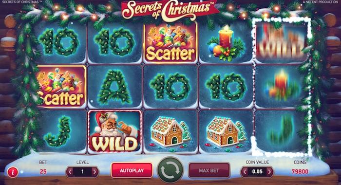 Graphics Screenshot Secrets of Christmas Online Slot