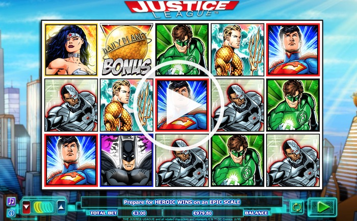 Screenshot of Justice League Online Slot