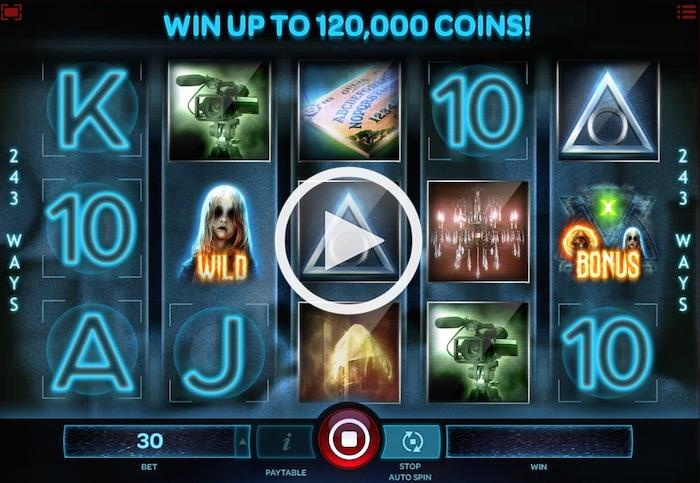 Screenshot of Paranormal Activity Online Slot