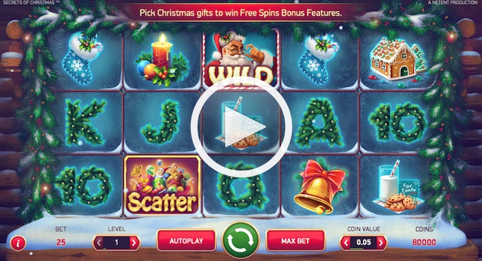 Screenshot of Secrets of Christmas Online Slot