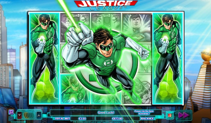 The Justice League Slot Superhero Power Up Feature