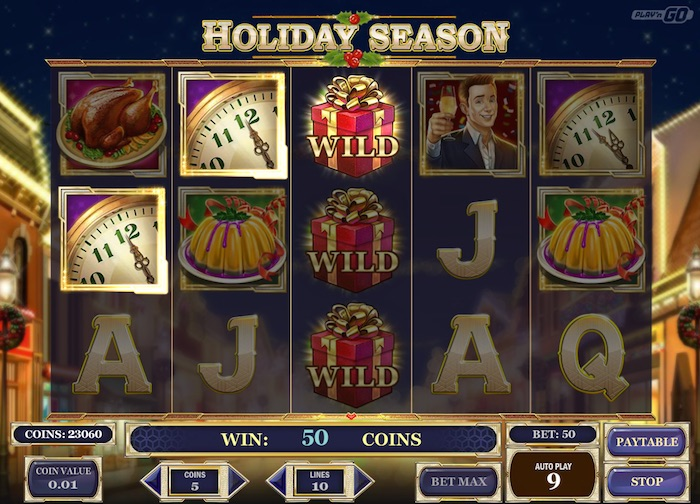 Holiday Season Online Slot Wild Feature