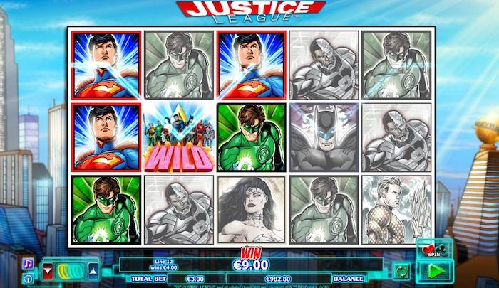 Wild Bonus Feature in NextGen Gaming Justice League Slot