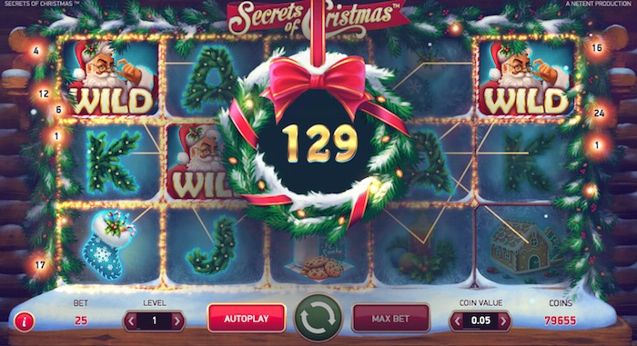 Wild Feature Screenshot Netent Secrets of Christmas Online Slot