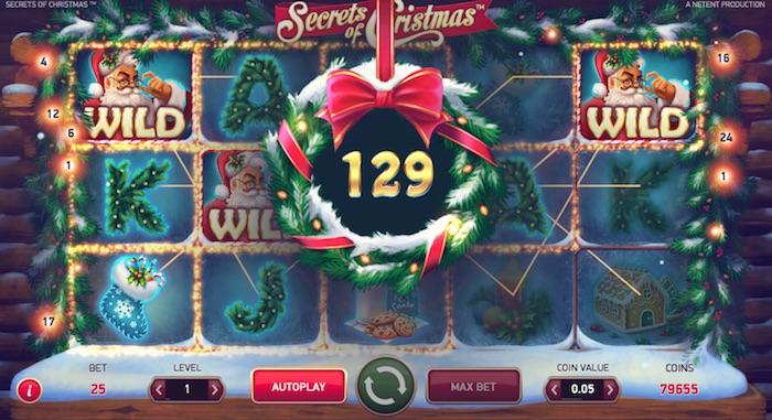 Wild Feature Screenshot Netent Secrets of Christmas Online Slot