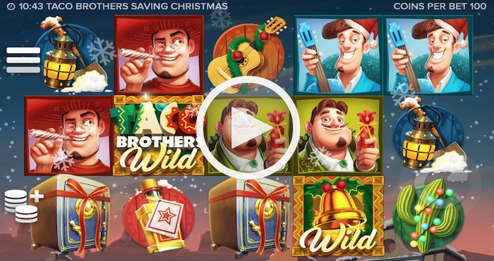 Elk Studios Taco Brothers Saving Christmas Online Slot Screenshot