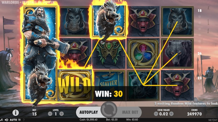 Netent Warlords Crystals Slot Graphics