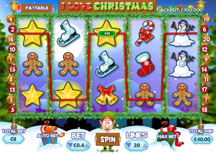 I Love Christmas Online Slot Graphics