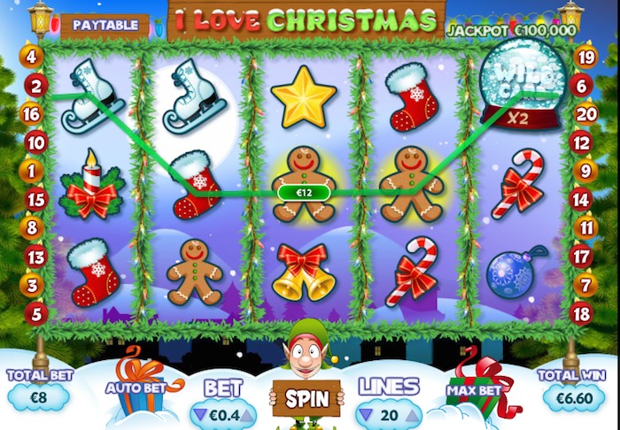 Wild Feature activated playing I Love Christmas Slot
