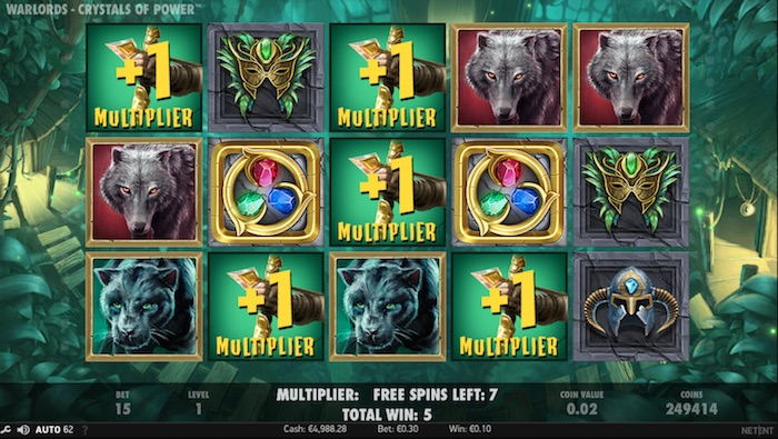 Screenshot of Multiplier Bonus activated playing Warlords