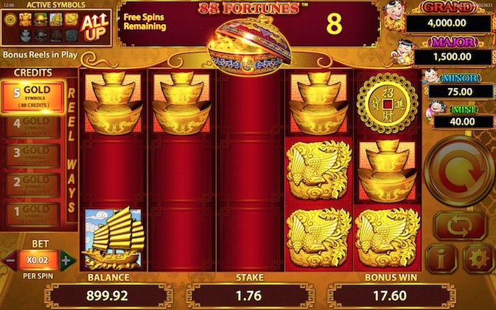 88 Fortunes Slot Free Spins Round