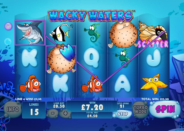 Gameplay Graphics in Wacky Waters Slot Game