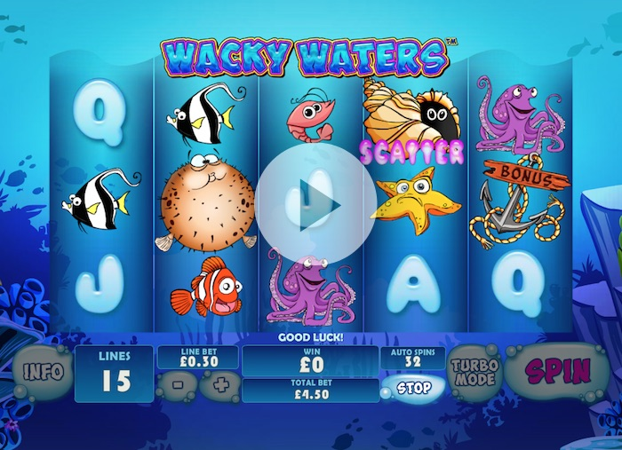 Screenshot of Wacky Waters Online Slot