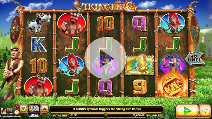 Play Viking Fire Slot at Madaboutslots.com